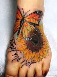 sunflower meaning and butterfly on insigniatattoo com