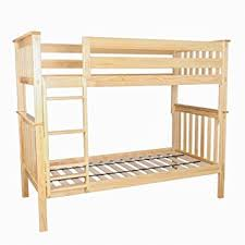 Amazoncom Max  Lily Solid Wood Twin Over Twin Bunk Bed Natural - Solid wood bunk beds