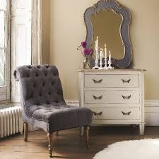 Grey Bedroom Chair by Grey Velvet Button Back Chair From Graham And Green Uk