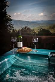 Vacation Cabin Rentals In Atlanta Ga Enjoy The Beautiful View From The Tub In Our Luxurious Raccoon