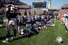 patriots fans rain boos on own players for anthem protest new