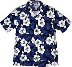 leaves light hibiscus blue hawaiian shirt