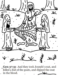 clip art joseph and the coat of many colors coloring page