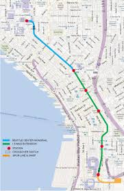 Light Rail Map Seattle Seattle 1 5 Mile Extension Editorial