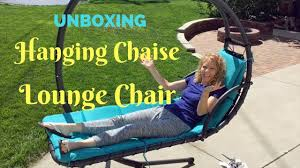 Hanging Chaise Lounge Chair Hanging Chaise Lounge Chair Unboxing Youtube