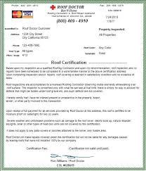 roof inspection report template 28 images of roof certification template infovia net
