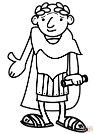 cartoon roman emperor coloring page free printable coloring pages