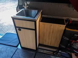 kitchen sink cabinet back panel 80 20 sink cabinet build details sprinter adventure