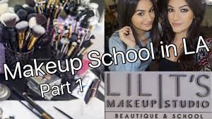 makeup school in la lilit s makeup school vlog part 1