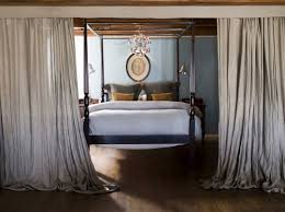 furniture full size four poster canopy bed and wrought iron