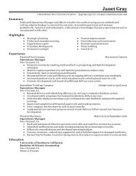Resume For Non Profit Job by Unforgettable Operations Manager Resume Examples To Stand Out