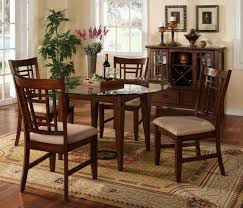 dining room furniture round dining table glass top applying
