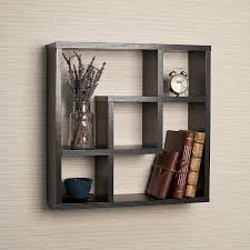 Hanging Pictures On Wall by Amazon Com Geometric Square Wall Shelf With 5 Openings Home
