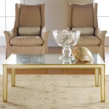 simple gold coffee table baseter look luxurious and charming