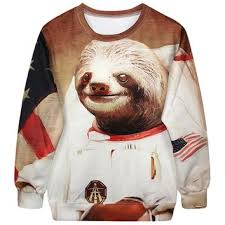 Sloth Meme Shirt - astronaut space sloth animal meme graphic from dotoly the animal