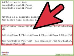 how to learn html with exle html code wikihow
