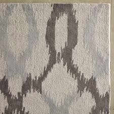 What Is A Tufted Rug Ikat Links Wool Rug Frost Gray West Elm
