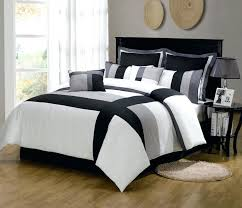 White Comforter Sets Queen Bedding Design White And Black Bedding In A Bag Bedding Interior