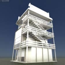 House Design 3d by 3d Model Tower House Design Blender Game Engine Vr Ar Low