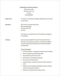 ideas collection sample cosmetology resume for download resume