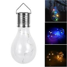 solar powered outdoor light bulbs led solar powered hanging light bulbs garden lights fence wall tree