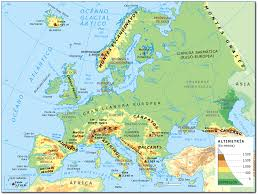 Interactive Map Of Europe Unit 1 The Landscapes Of Spain And Europe Aula Virtual Severo
