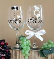 wine glasses for wedding 20oz glittery painted wine glass with tulle dress and