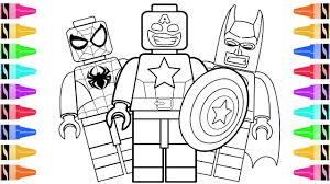 draw lego superheroes captain america kids learn colors