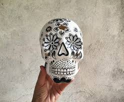 vintage ceramic mexican skull sculpture day of the dead folk art vintage ceramic mexican skull sculpture day of the dead folk art halloween home decor