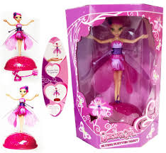 new flying fluttering fairy girls toy kids doll pink wings magical