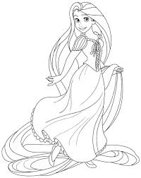 disney princess tangled rapunzel coloring pages free printable for