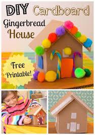diy cardboard toy gingerbread house cardboard toys diy