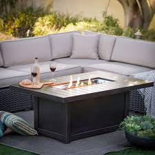 rectangle propane fire pit table awesome fireplace napoleon rectangle propane fire pit table intended