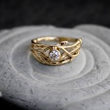 tree branch engagement ring ethical canadian 14kt yellow gold engagement by opalwing