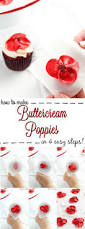 how to make beautiful buttercream poppy flowers with video poppy