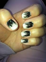 black and white french tip nails my nail art pinterest