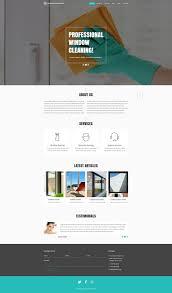 website template 52092 window cleaning company custom website