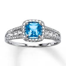 rings blue topaz images Kay blue topaz ring lab created sapphires sterling silver jpg