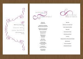 wedding programs trifold a swirling heart wedding program detail wedding design
