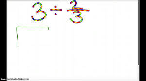 dividing fractions with whole numbers using a model youtube