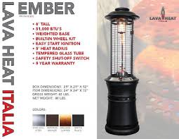 Lava Heat Patio Heaters Lava Heat Opus Trendy Lava Heat Italia Vs Knockoff Comparison