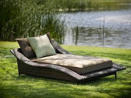 Wicker Lounge Chair Furniture Large Grey Rattan Wicker Outdoor Patio Chaise Lounge