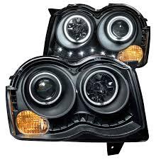 jeep headlights halo anzo usa projector halo headlights with clear lense amber bulb