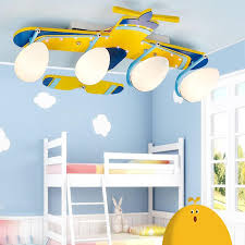 boys room ceiling light cute yellow airplane baby room ceiling l cartoon wooden boy s