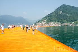 Floating Piers by Christo U0027s Spectacular Art Installation Lets Visitors U201cwalk On