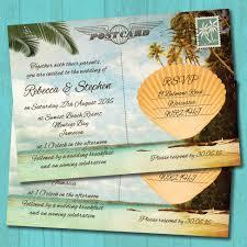 wedding invitations jamaica palm tree postcard wedding invitation elisa by design