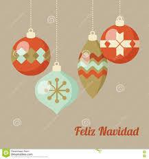 retro merry christmas greeting card invitation spanish feliz