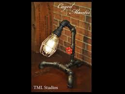 industrial plumbing pipe edison light fixture desk lamp