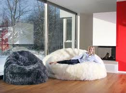 buy bean bag kids into the glass deeply comfortable white fur