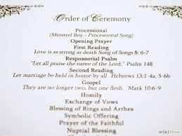 order of ceremony for wedding program how to make a personal wedding ceremony booklet 11 steps